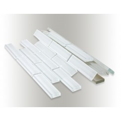 Spa Super White Big Brick Glass Tiles