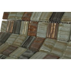 Terrene Mercury Blend 1x1 Glass Tiles