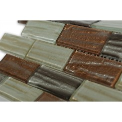 Terrene Mercury Blend 1x3 Glass Tiles