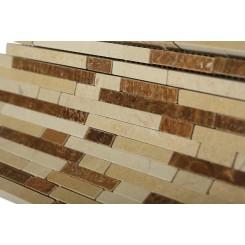 Torpedo Eastern Desert Blend Marble Mosaic Tiles