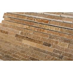 Torpedo Wood Onyx Marble Mosaic Tiles