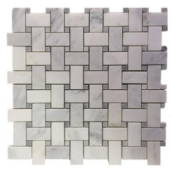 Trenza Weave Asian Statuary with Silver Dot Marble Tile
