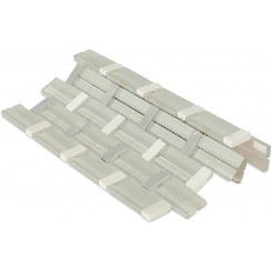 Trestle Super White Mosaic Tile