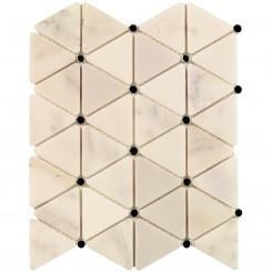 Highland Sardonyx Marble and Mirror Glass Tile