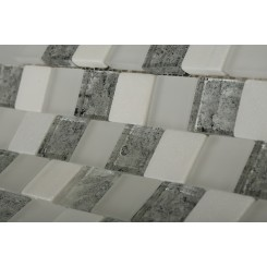 Vestige Ice Mist Marble & Glass Tiles