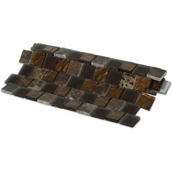 Vestige Terra Brown Marble & Glass Tiles