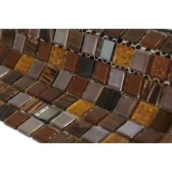 Whimsical Rustic Bark Glass Tile