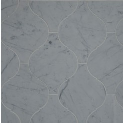 Beacon White Carrera Polished Marble Tile