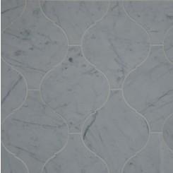 Beacon White Carrera Polished Marble Tile