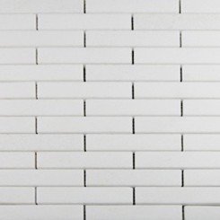 White Thassos 3/4 X 4 Big Brick Pattern Marble Mosaic Tiles