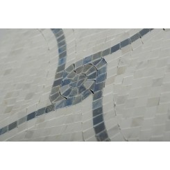 Windmill Blue Macauba and Ariston Marble Tile