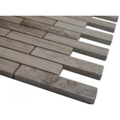Wooden Beige 3/4 X 4 Big Brick Pattern Marble Mosaic Tiles