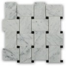 Arbor White Carrera With Black Dot Marble Tile