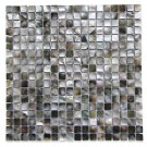 Deep Sea Black Pearls Square Pattern Tile