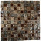 Roman Collection Burnt Russet 1x1 Glass Tile