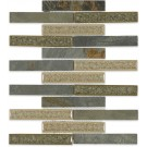 Roman Collection Emperial Slate 1x6 Brick Glass Tile