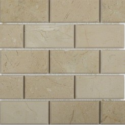 Crema Marfil 2x4 Beveled Stone Tile