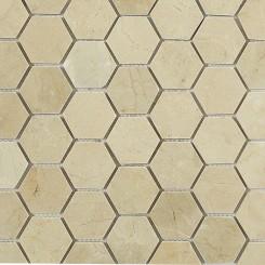 Crema Marfil Hexagon Marble Mosaics