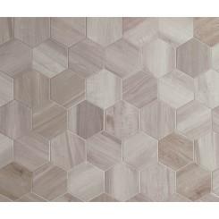 Esagona King Silver 9.6X11.08 Porcelain Tile