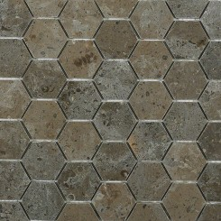 9 SQ FT: Lagos Azul Hexagon Marble Mosaics