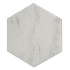 Zenith White Carrera Hexagon Honed Marble Tile
