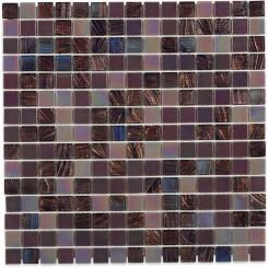 Plum Brule 3/4 X 3/4 Glass Tiles
