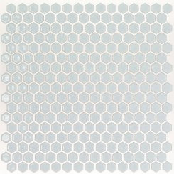 Eden Rimmed Modern Gray Hexagon Polished Ceramic Tile