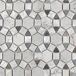 Victoria Pearl White Carrera and Moonstone Tile