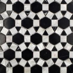 Victoria Pearl Nero Marquina Tile