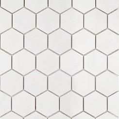 White Thassos Hexagon Marble Mosaics