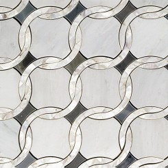 Cassie Chapman Heaven and Earth Marble and Pearl Tile