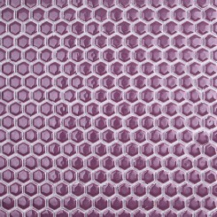 Eden Rimmed Summer Plum Hexagon Polished Ceramic Tile