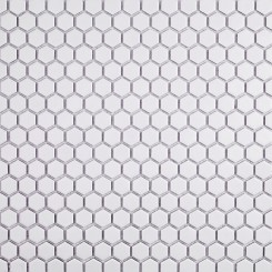 Eden White Hexagon Matte Ceramic Tile