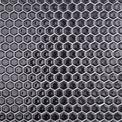 Eden Black Hexagon Polished Ceramic Tile