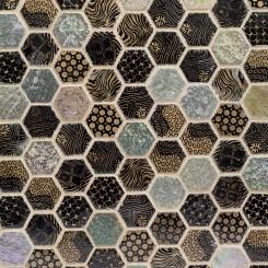 Edgecomb Sand Fossil Hexagon Stone Tile