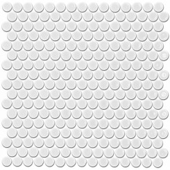 Eden White Penny Round Polished Ceramic Tile