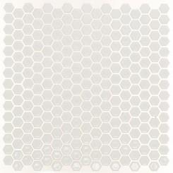 Eden White Hexagon Polished Ceramic Tile