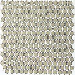 Eden Rimmed Latte Hexagon Polished Ceramic Tile