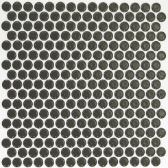 Eden Rimmed Pavement Penny Round Polished Ceramic Tile