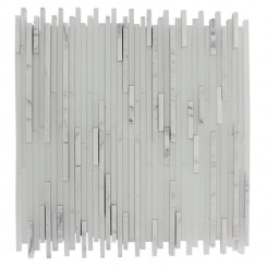 "BREEZE STYLUS CARRERA ICE PATTERN 1/8"" X RANDOM GLASS TILES_MAIN"