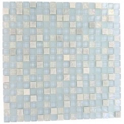 "MORNING MIST BLEND 1/2 X 1/2"" MARBLE & GLASS TILE""_MAIN"