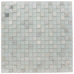 SEASPRAY BLEND SQUARES 1/2 X 1/2&quot; MARBLE &amp; GLASS TILES SQUARES&quot;_MAIN