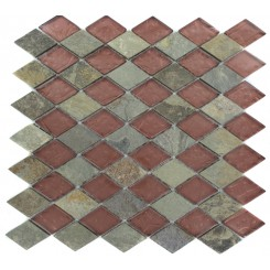 GEOLOGICAL DIAMOND MULTICOLOR SLATE & RUST GLASS TILES 2X3_MAIN