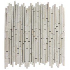 TORPEDO 1/4 X RANDOM CREMA MARFIL PATTERN MARBLE MOSAIC TILES_MAIN