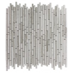 TORPEDO 1/4 X RANDOM WOODEN BEIGE PATTERN MARBLE MOSAIC TILES_MAIN