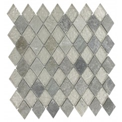 GEOLOGICAL DIAMOND GREEN QUARTZ SLATE & WHITE GOLD GLASS TILES 2X3_MAIN
