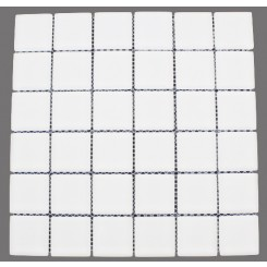 Loft Super White Frosted 2 X 2 Glass Tiles