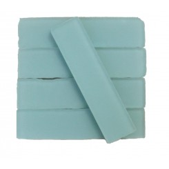 Coastal Dew 2x8 Beached Frosted Glass Tiles