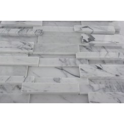 Sample-Illusion 3d Brick Pattern White Carrera Sample