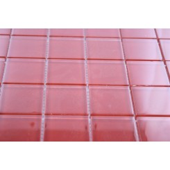 SAMPLE - LOFT CHERRY RED POLISHED 2x2 GLASS TILES 1 PIECE SAMPLE_MAIN